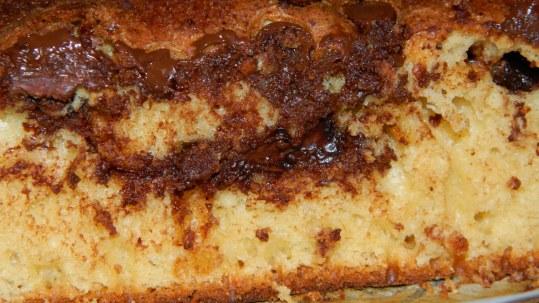 Sourcream chocolate chips coffee cake