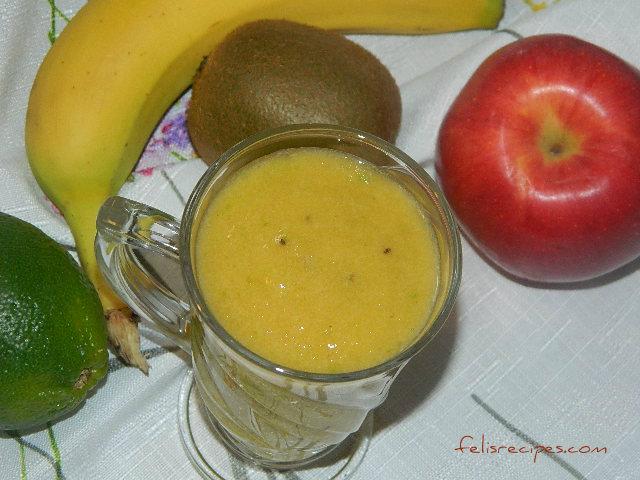 pinepple-kiwi-smoothie
