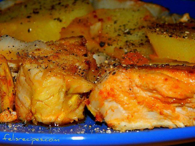 Oven chicken breast and potato