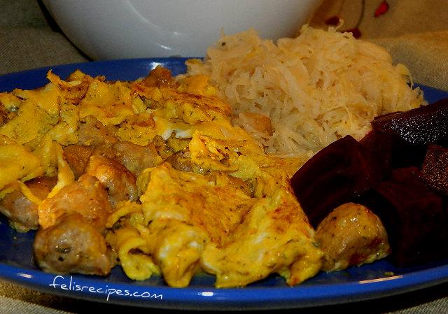 Sasauges Omelette